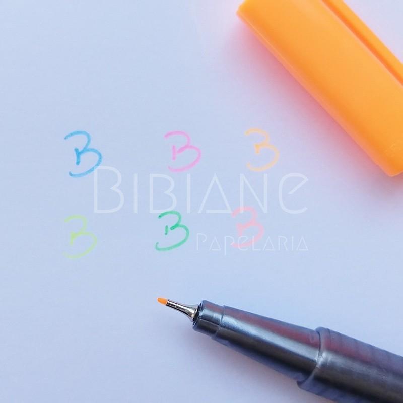 Caneta Fineliner Triplus 0.3mm 6 Neon  - Bibiane Papelaria