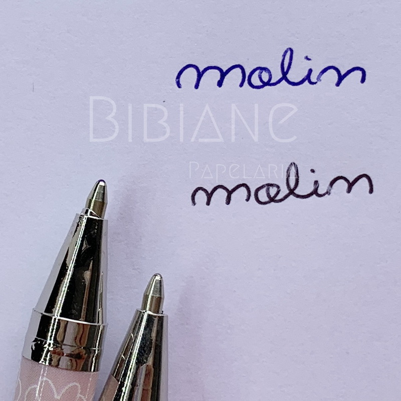 Caneta Minnie c/ Strass Rosa Molin  - Bibiane Papelaria