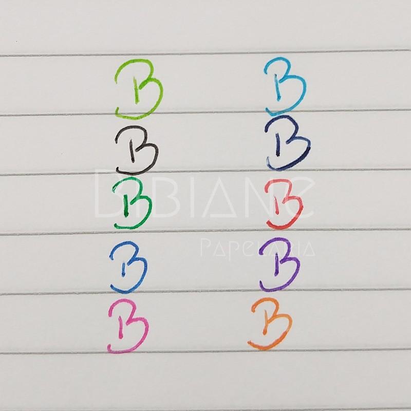 Canetas Coloridas Estampadas (10 unid.)  - Bibiane Papelaria