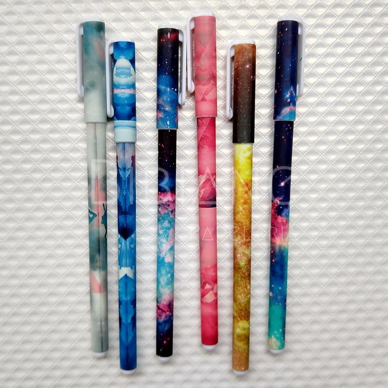 Canetas Coloridas Estampadas (6 unid.)  - Bibiane Papelaria