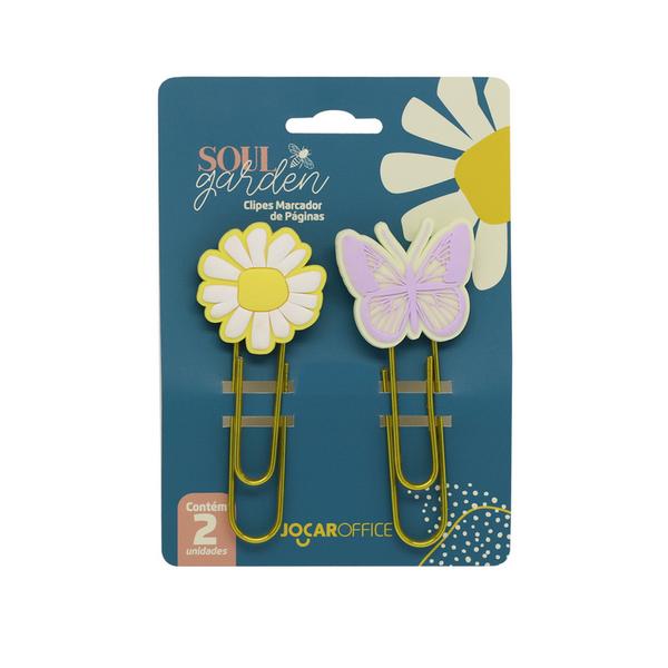 Clips Decorados Soul Garden Jocar Office  - Bibiane Papelaria