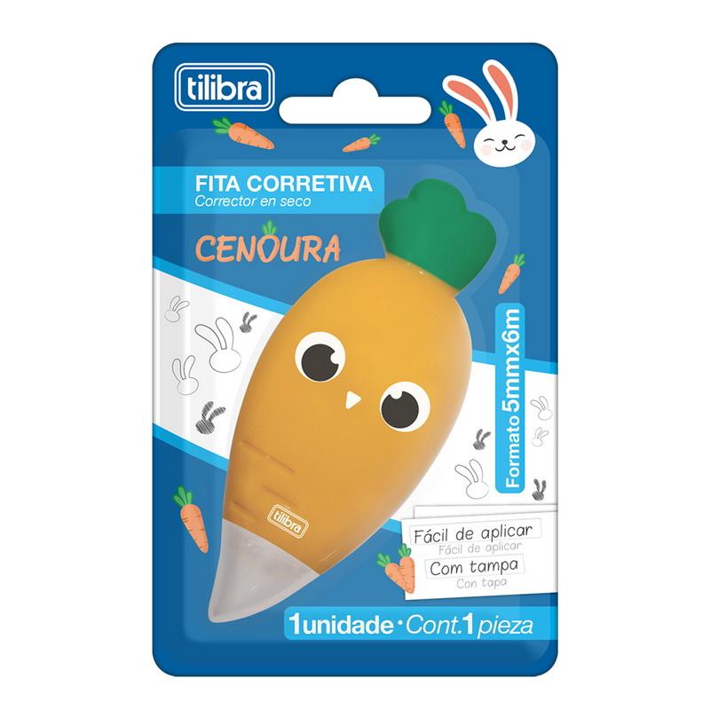 Corretivo Cenoura Tilibra  - Bibiane Papelaria