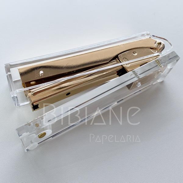 Grampeador Acrílico Retangular  - Bibiane Papelaria