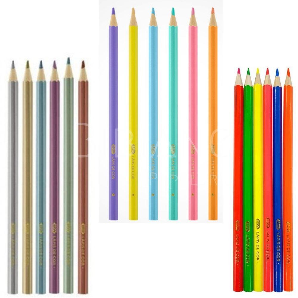 Lápis de Cor BRW  - Bibiane Papelaria