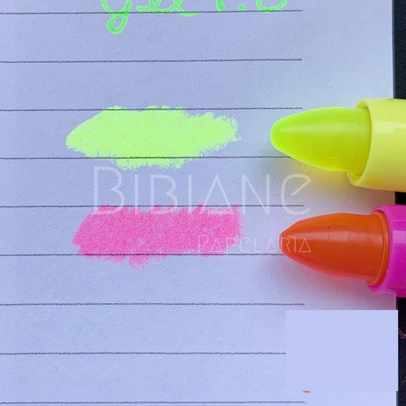 Marca-Texto em Gel Neon BRW  - Bibiane Papelaria