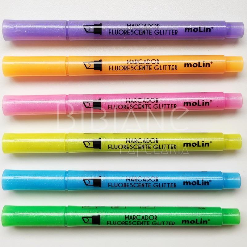 Marca-Texto Glitter Molin  - Bibiane Papelaria