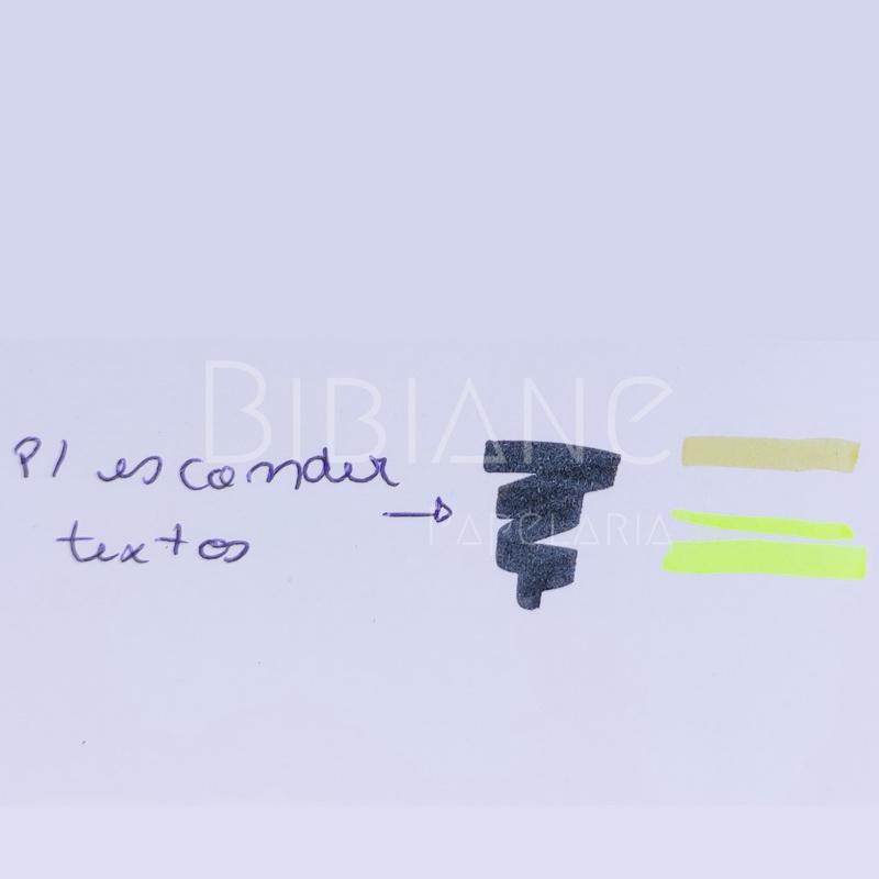 Marca-Texto Up Preto e Amarelo Newpen  - Bibiane Papelaria