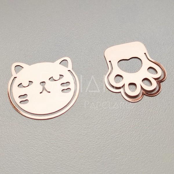 Marcador de Página Gato (2 unid)  - Bibiane Papelaria