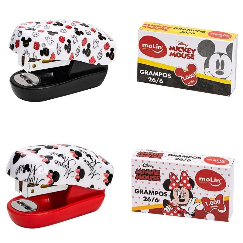 Mini Grampeador Mickey e Minnie (+ grampos)  - Bibiane Papelaria