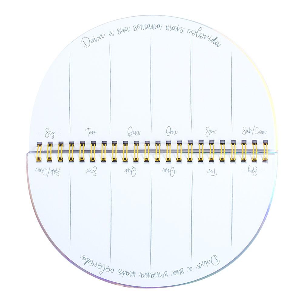 Mini Planner Semanal Colorido  - Bibiane Papelaria