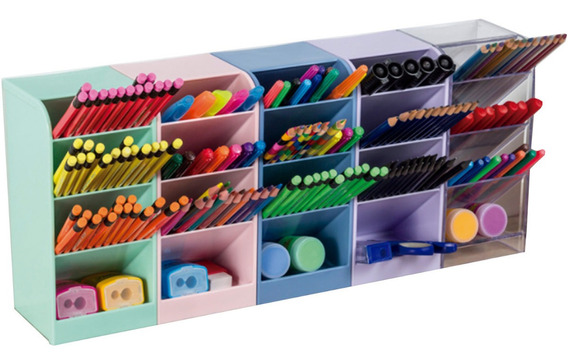Organizador / Porta-Lápis Diagonal Torre Maxcril  - Bibiane Papelaria
