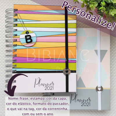 Planner Permanente Personalizado  - Bibiane Papelaria