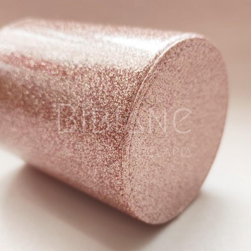 Porta-Lápis Brilho Rosa  - Bibiane Papelaria