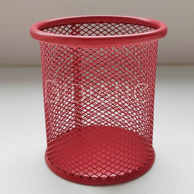 Porta-Lápis Metal Vermelho  - Bibiane Papelaria