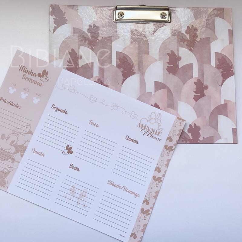 Prancheta + Planner Semanal Minnie DAC  - Bibiane Papelaria