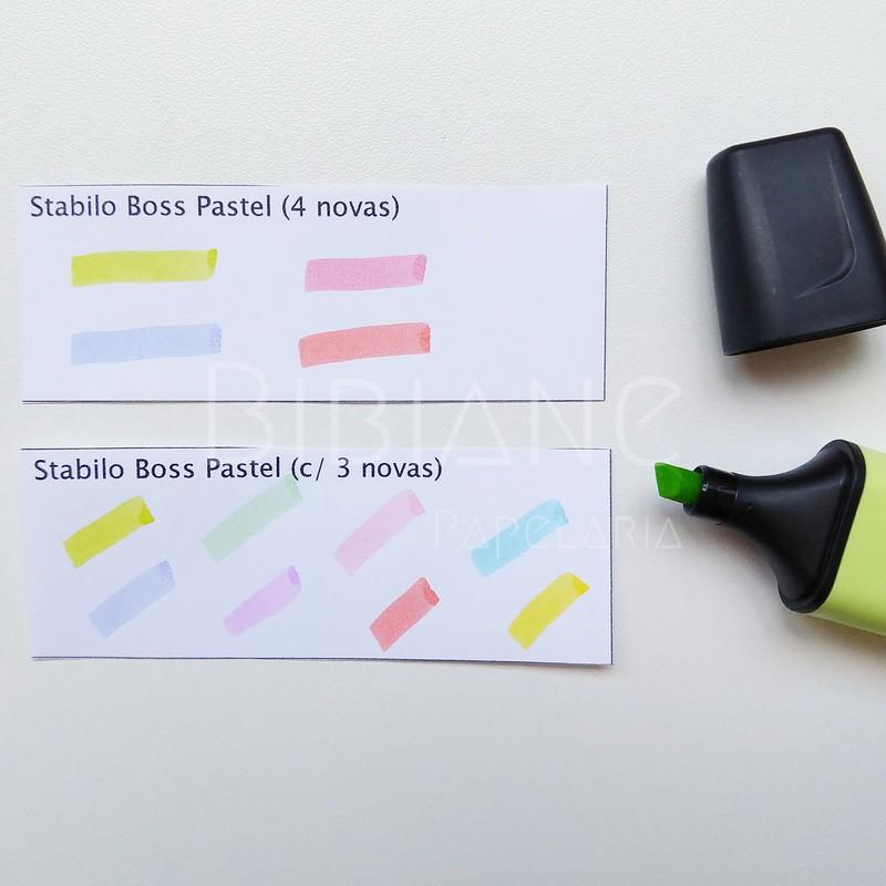 Stabilo Boss Pastel Cores Novas (4 unid)  - Bibiane Papelaria