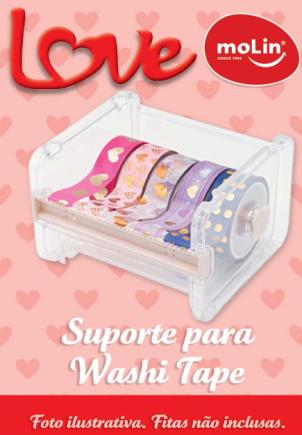 Suporte/Dispenser p/ 5 fitas Molin  - Bibiane Papelaria