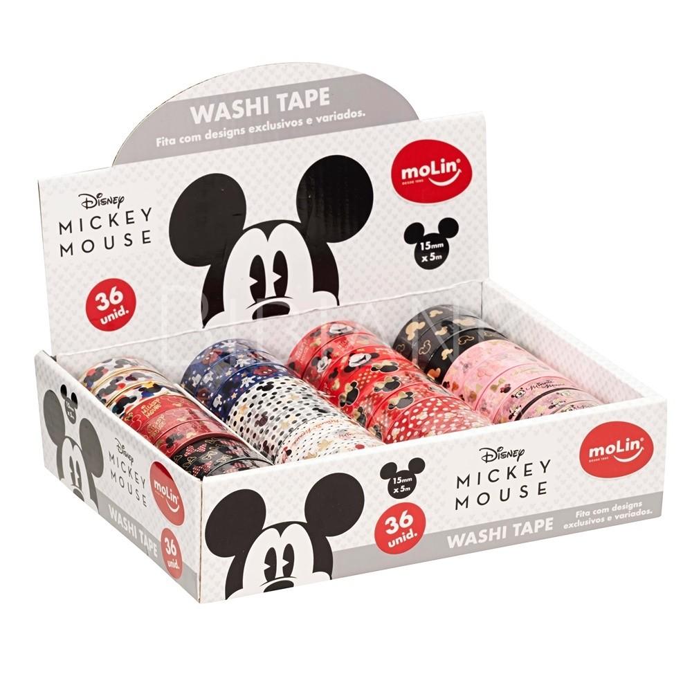 Washi Tape Mickey e Minnie Molin  - Bibiane Papelaria