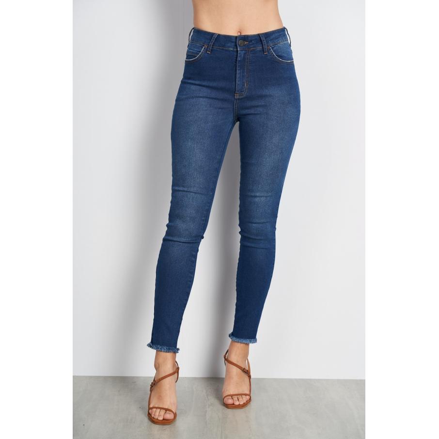 Calça Jeans Bia Cós Intermediário Barra Desfiada - Colcci
