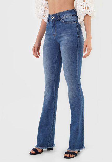 Calça Jeans Bootcut Bia Azul - Colcci