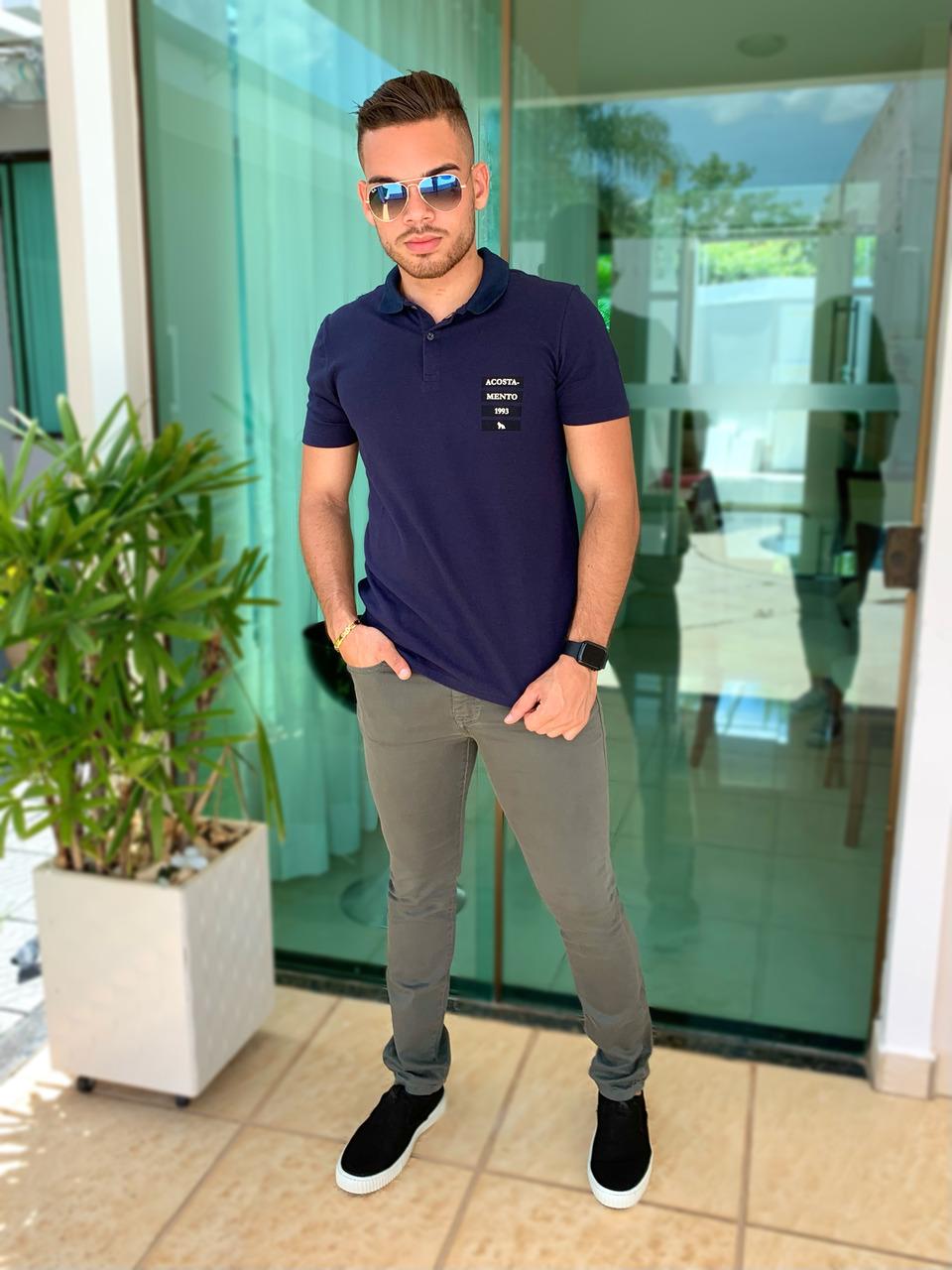 Calça Jeans Skinny Verde Oliva - Acostamento