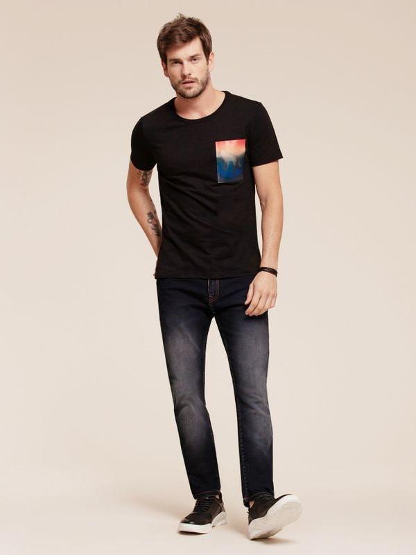 Calça Skinny Jeans Escuro - Acostamento