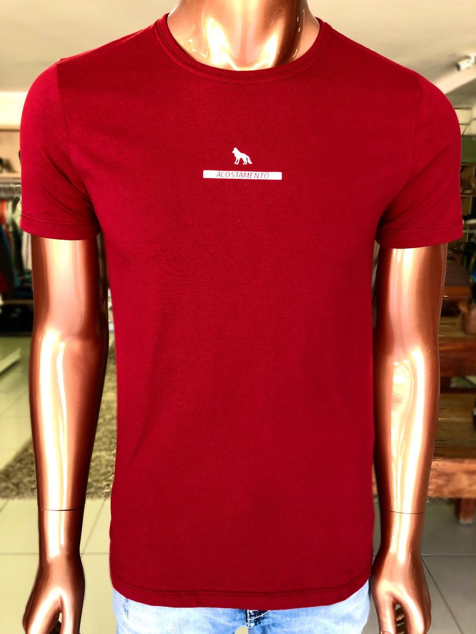 Camiseta Classic Nas Cores Vermelho e Pêssego - Acostamento