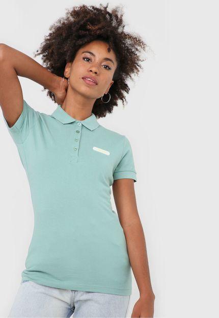Camiseta Polo Verde Frise - Colcci
