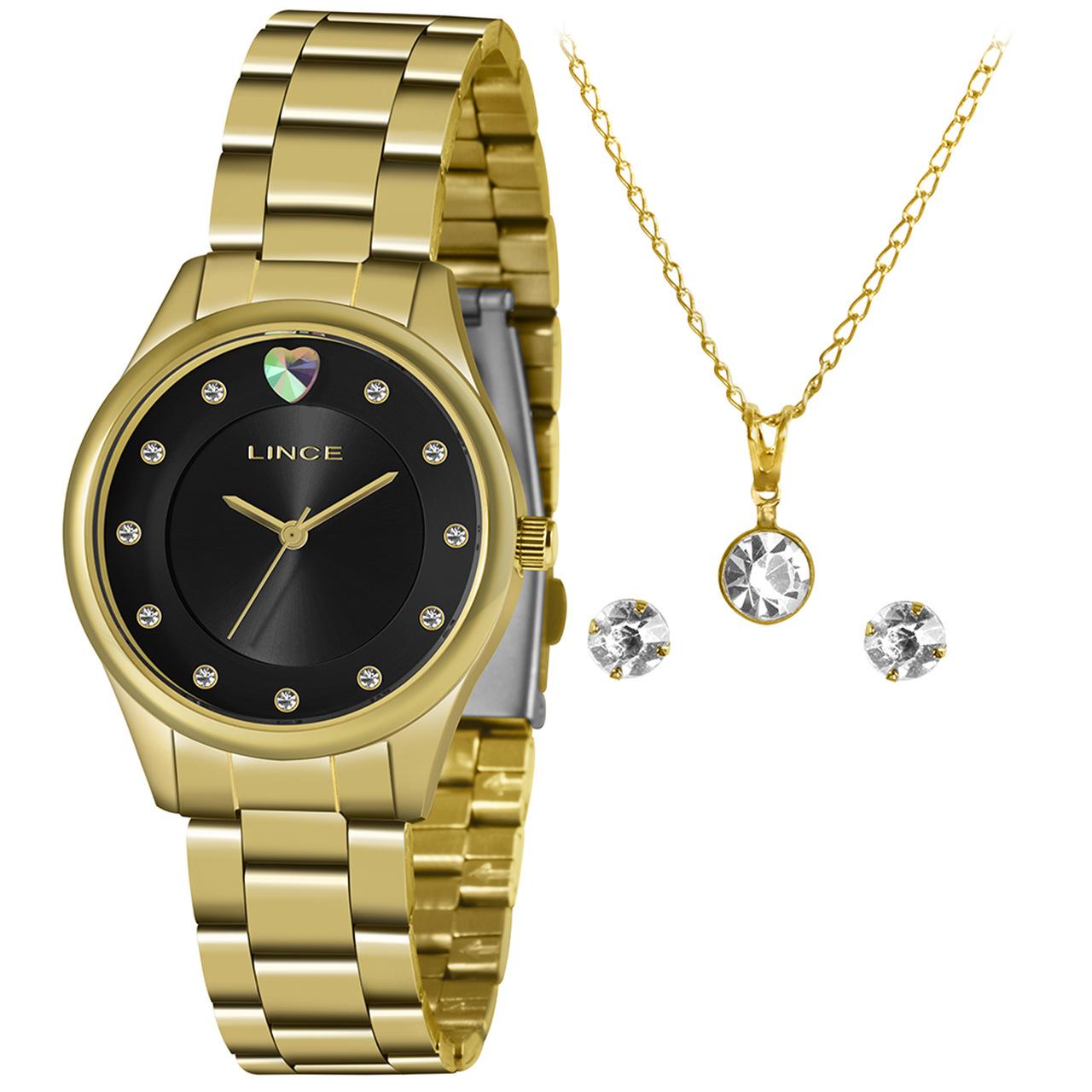 Relógio Funny Feminino Analógico LRGJ138L Dourado - Lince