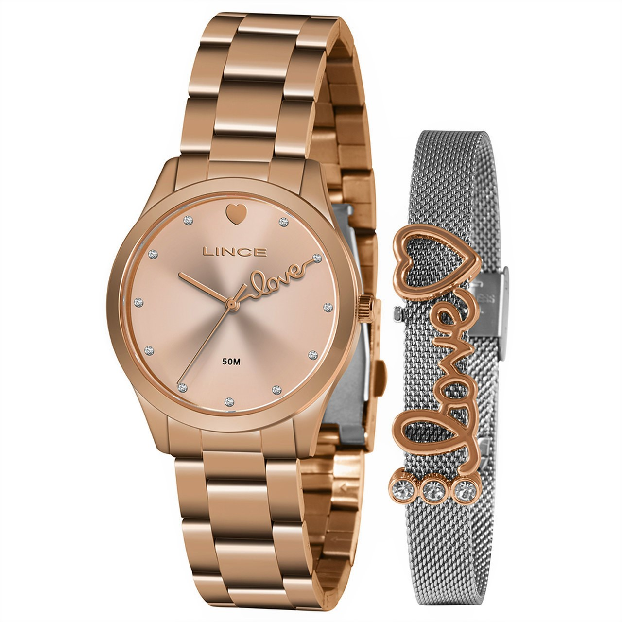 Relógio Funny Feminino Analógico LRR4668L Rose Gold - Lince