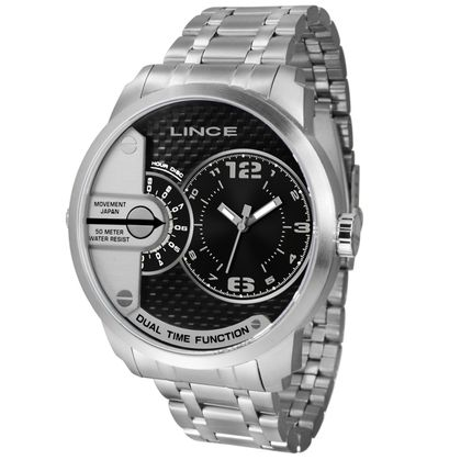 Relógio Lince Masculino Dual Prata MRMH049L-P2SX