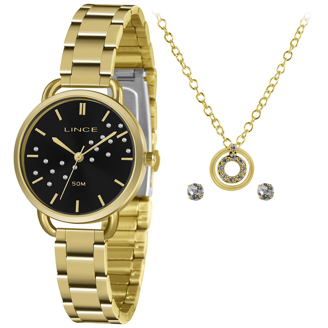 Relógio Urban Feminino Analógico LRGH157L Dourado - Lince