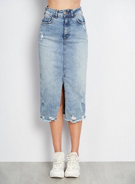 Saia Midi Jeans - Colcci