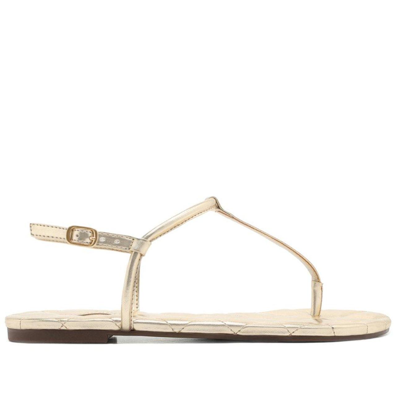 Sandália Dourada Matelassê Slim - AnaCapri