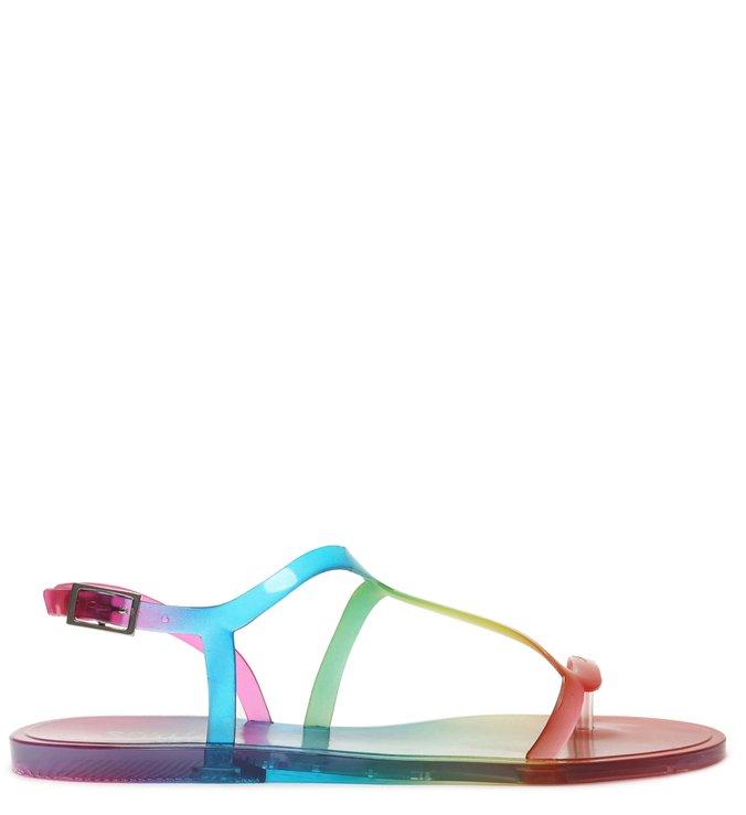 Sandália Rasteira Jelly Curves Rainbow - Schutz