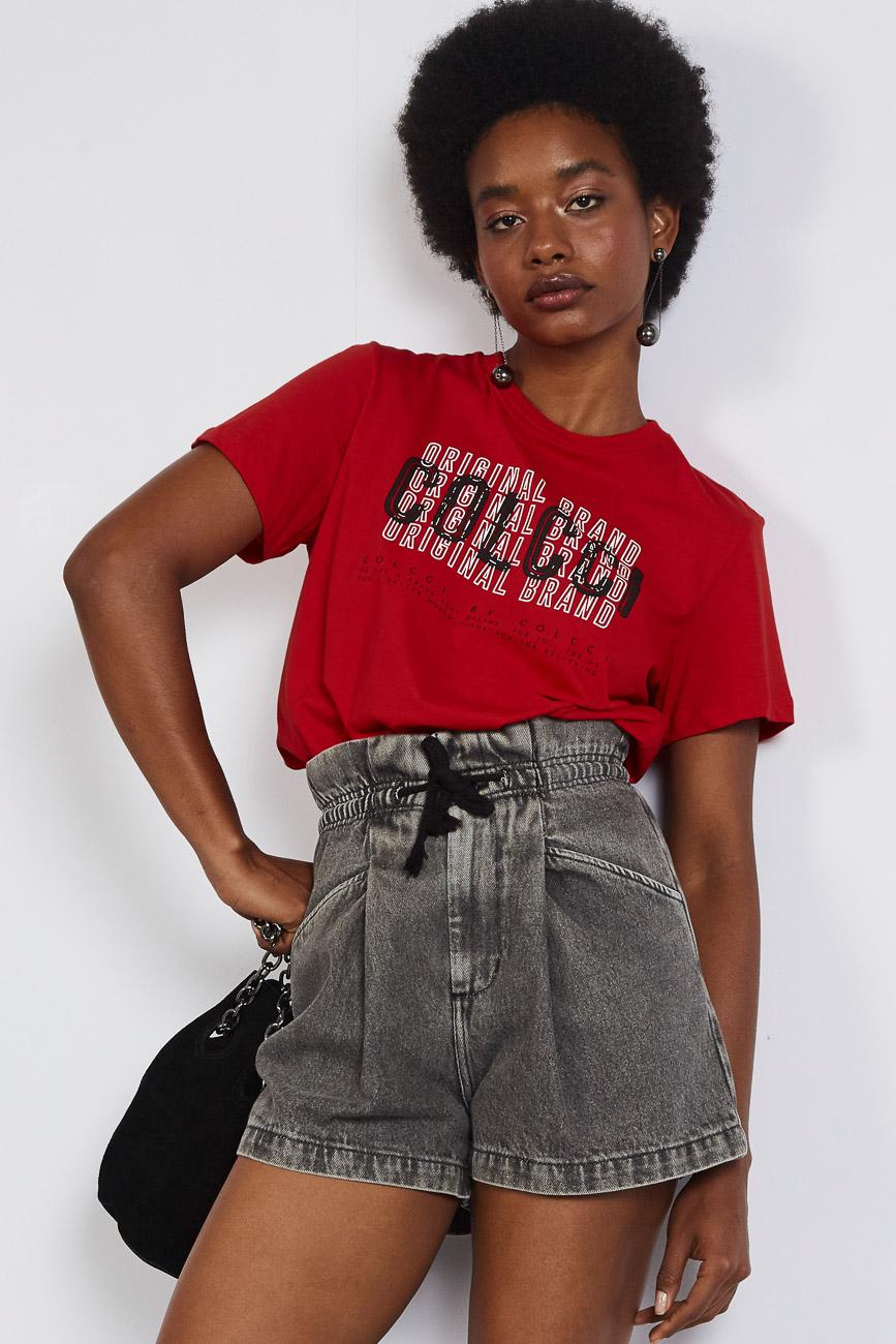 T-shirt Colcci Original Brand Vermelha - Colcci