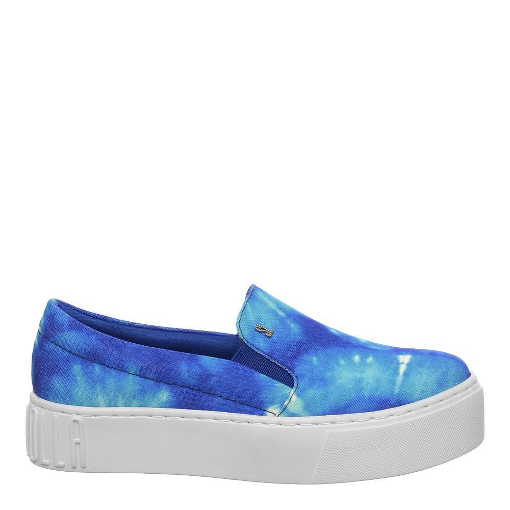 Tênis Slip On Lona Tie Dye Azul - Santa Lolla