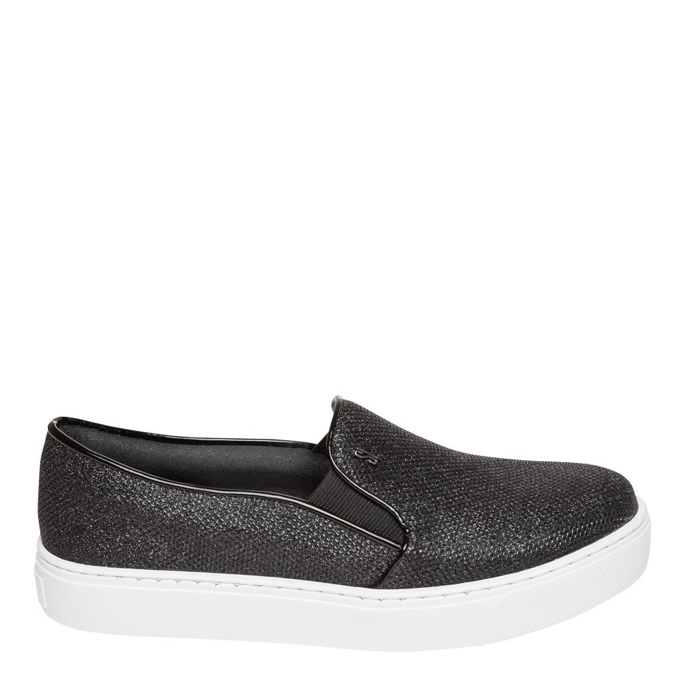 Tênis Slip On Shine Preto Glitter - Santa Lolla