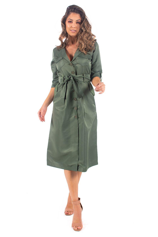 Vestido Midi Premium Verde Safira M - Bana Bana