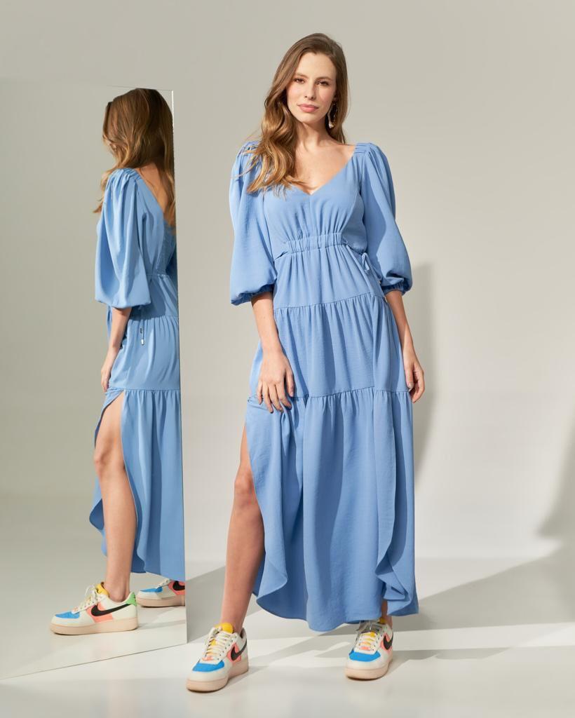 Vestido Paris Azul Bebê - Liv Style