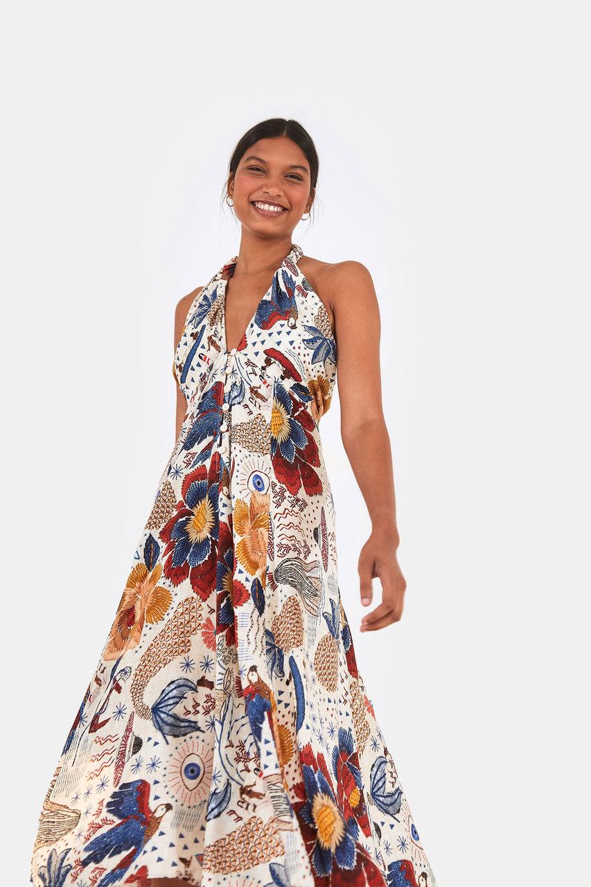 Vestido Saia Amarração Canto Das Águas - FARM
