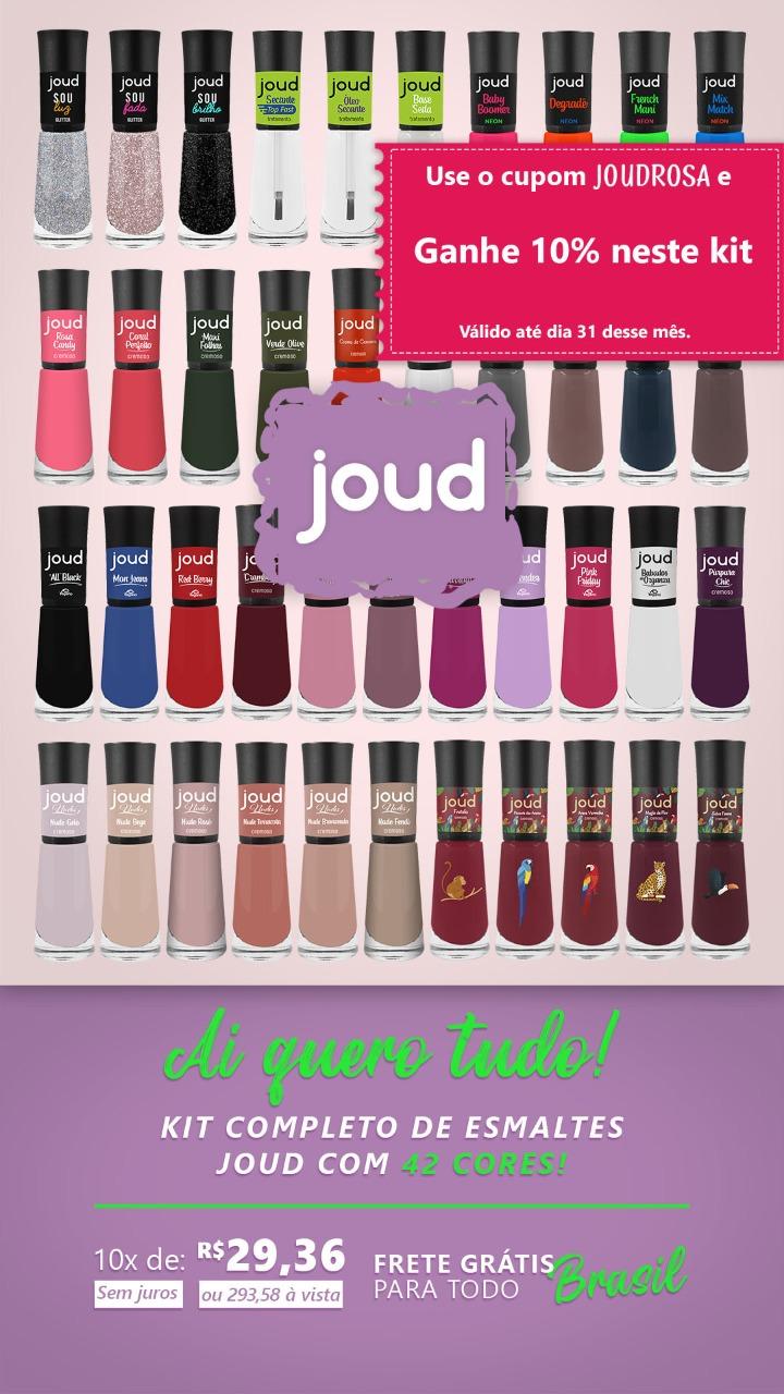 Kit Completo Esmalte Joud c/42 cores