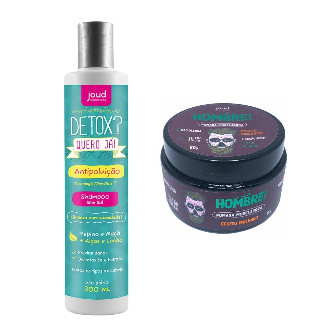 Kit Philippe Pomada efeito Molhado + Shampoo Detox