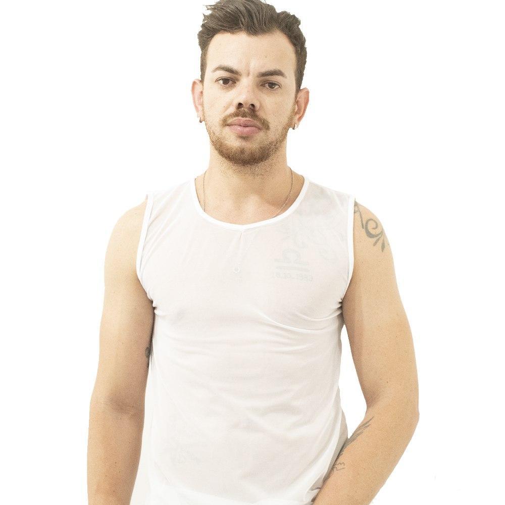 Camiseta Regata Transparente John Skull