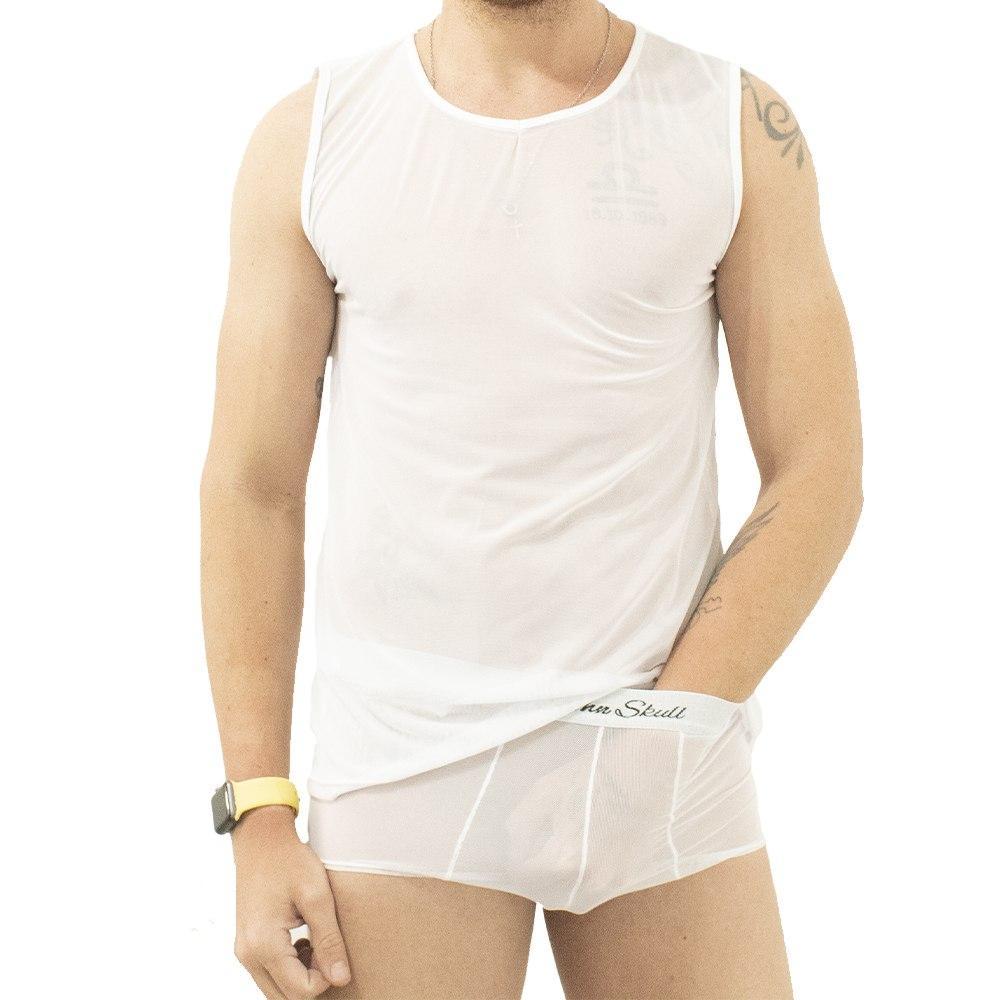 Conjunto Camiseta Regata e Cueca Transparente John Skull