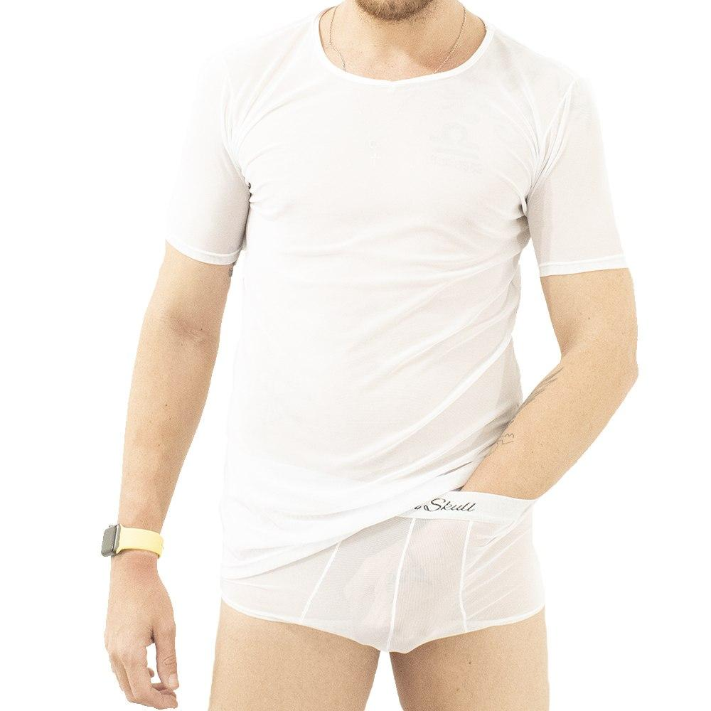 Conjunto Camiseta T-Shirt e Cueca Transparente John Skull
