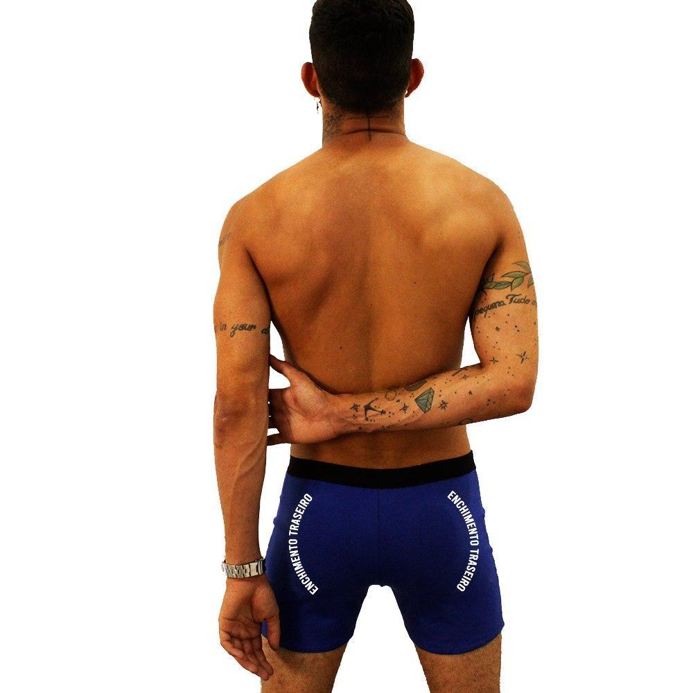 Cueca Boxer com Enchimento Traseiro John Skull