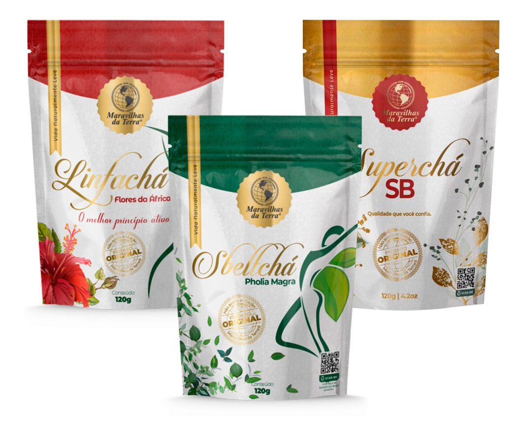 Kit 3 Chá Sbeltchá Maravilhas Da Terra Emagreça Com Saúde