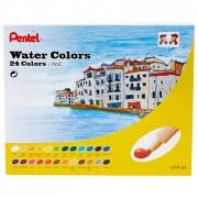 Aquarela a Base de Água em Tubo Pentel - 24 cores