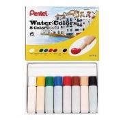 Aquarela a Base de Água em Tubo Pentel - 8 cores